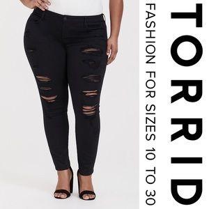 Torrid Classic Skinny Jean Vintage Stretch Black